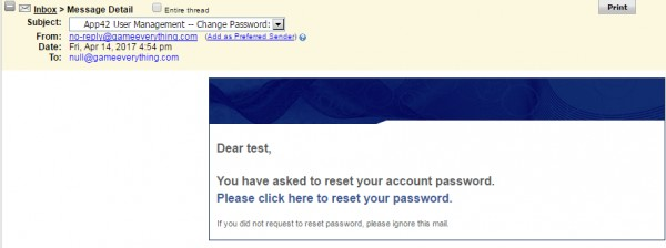 Creating An Email Template For Password Reset With Email